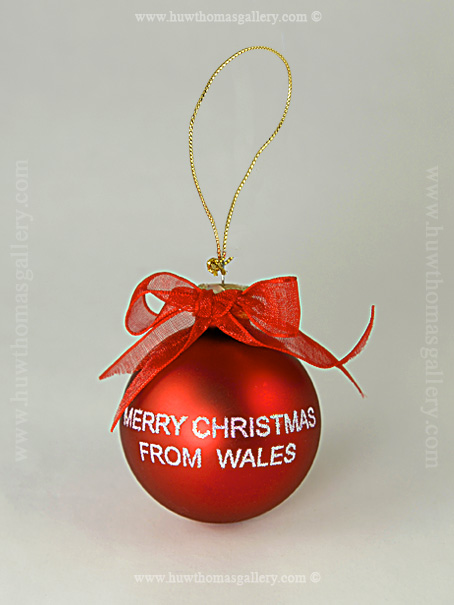 2 Merry Christmas From Wales Baubles | Christmas Decorations | Huw ...